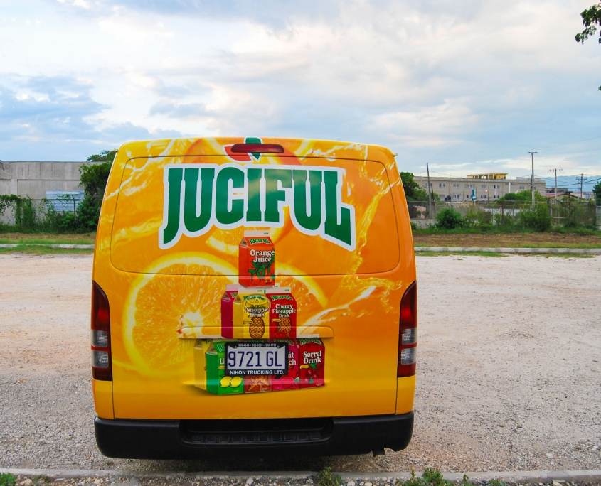 DSC 0007 2 845x684 - Juciful - Jamaica Citrus Growers Limited | Vehicle Wrap