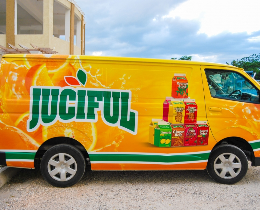 DSC 0008 2 845x684 - Juciful - Jamaica Citrus Growers Limited | Vehicle Wrap