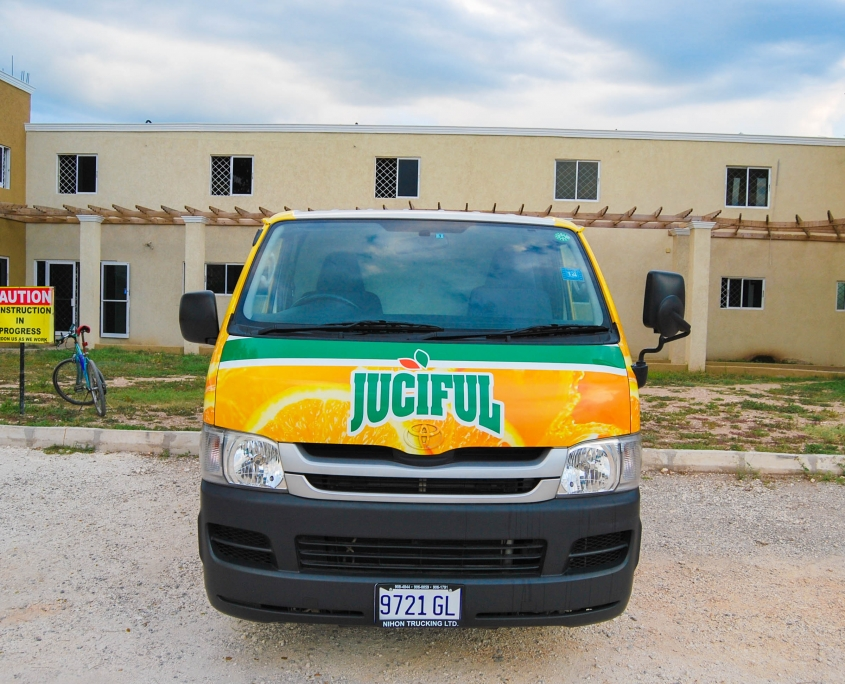 DSC 0009 1 845x684 - Juciful - Jamaica Citrus Growers Limited | Vehicle Wrap