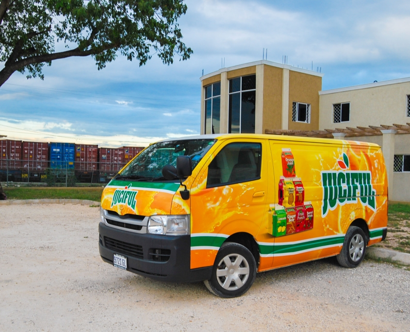 DSC 0011 3 845x684 - Juciful - Jamaica Citrus Growers Limited | Vehicle Wrap