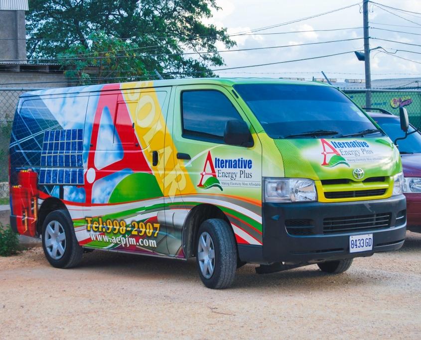 DSC 0173 1 845x684 - Alternative Energy Plus | Vehicle Wrap