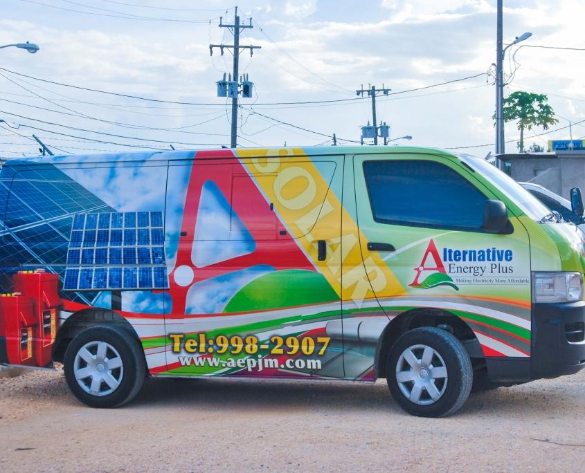 DSC 0174 1 845x684 - Alternative Energy Plus | Vehicle Wrap