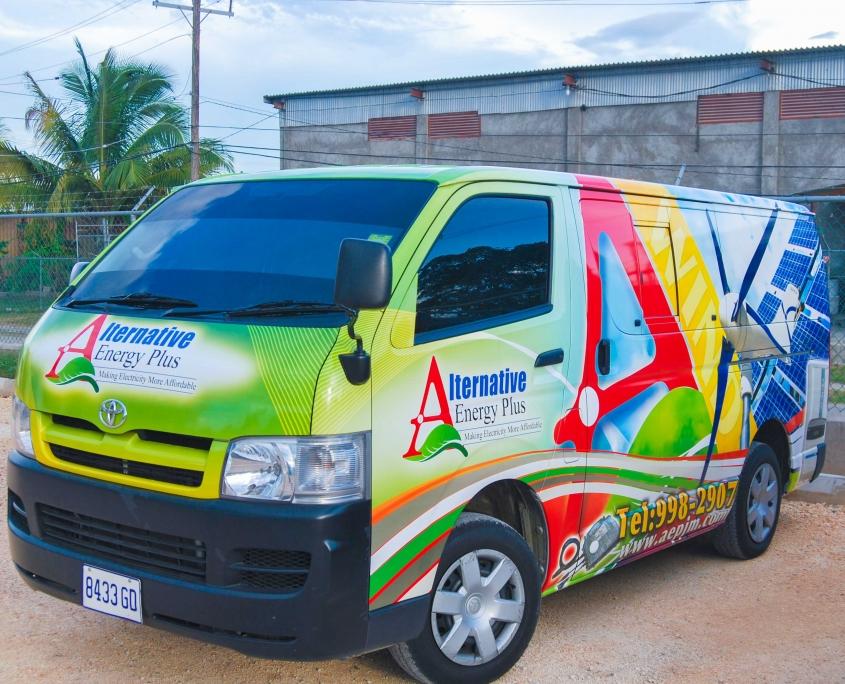 DSC 0175 3 845x684 - Alternative Energy Plus | Vehicle Wrap