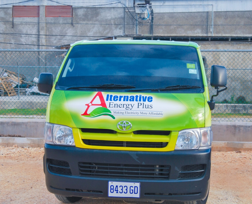 DSC 0176 1 845x684 - Alternative Energy Plus | Vehicle Wrap