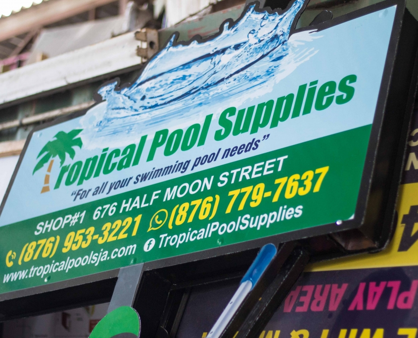 IMG 5435 2 845x684 - Tropical Pool Supplies | Routed Sign