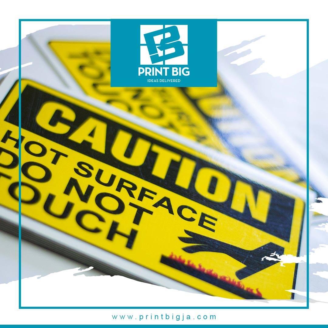 Warn customers and employees of hazardous