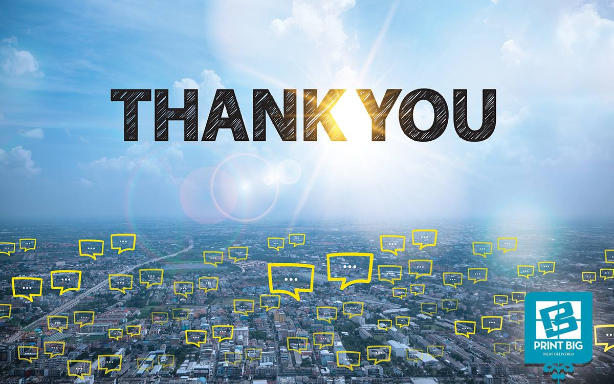 We want to say quotTHANK YOUquot to our