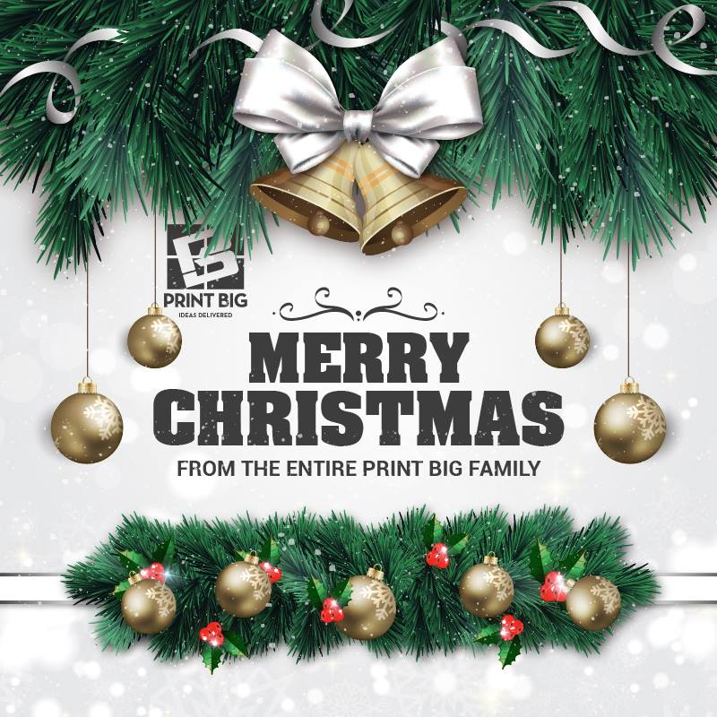 Merry Christmas from Print Big. Yesterday is