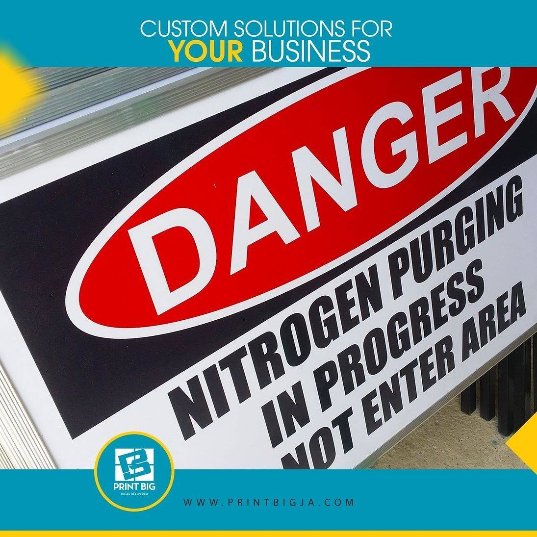 Regulatory signs warn of dangers provide