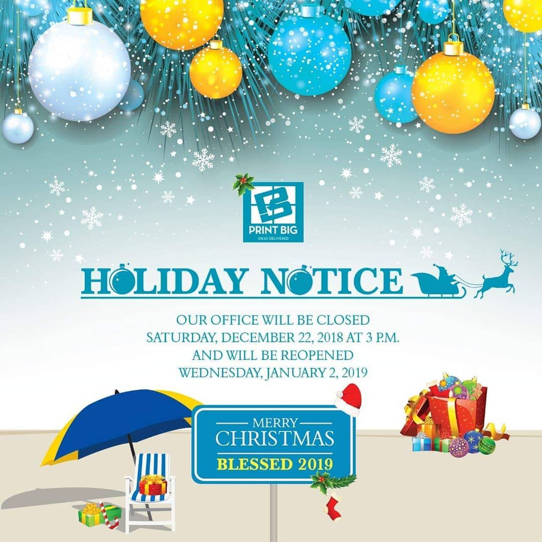 HolidaysNotice Our office will be closed for the Holiday Season.com& nc cat=105