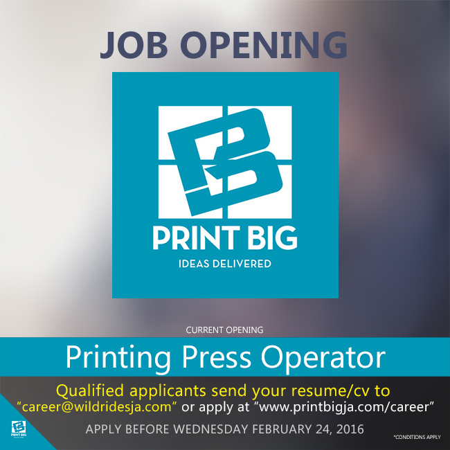 As a Printing Press Operator you must have experience with.com& nc cat=101