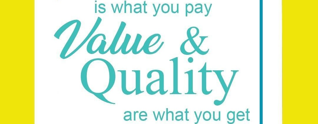 at print big price is what you pay value and quality are what you get.  call 543