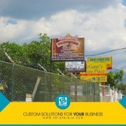 Communicate consistent development with branding near your business location