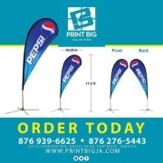 Feather Banner is suitable for both indoor and outdoor events