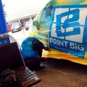 Live vehicle wrap of the Tata Nano at NCB Expo