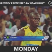 Tag a friend whos weekdays are like @usainbolt monday tuesday