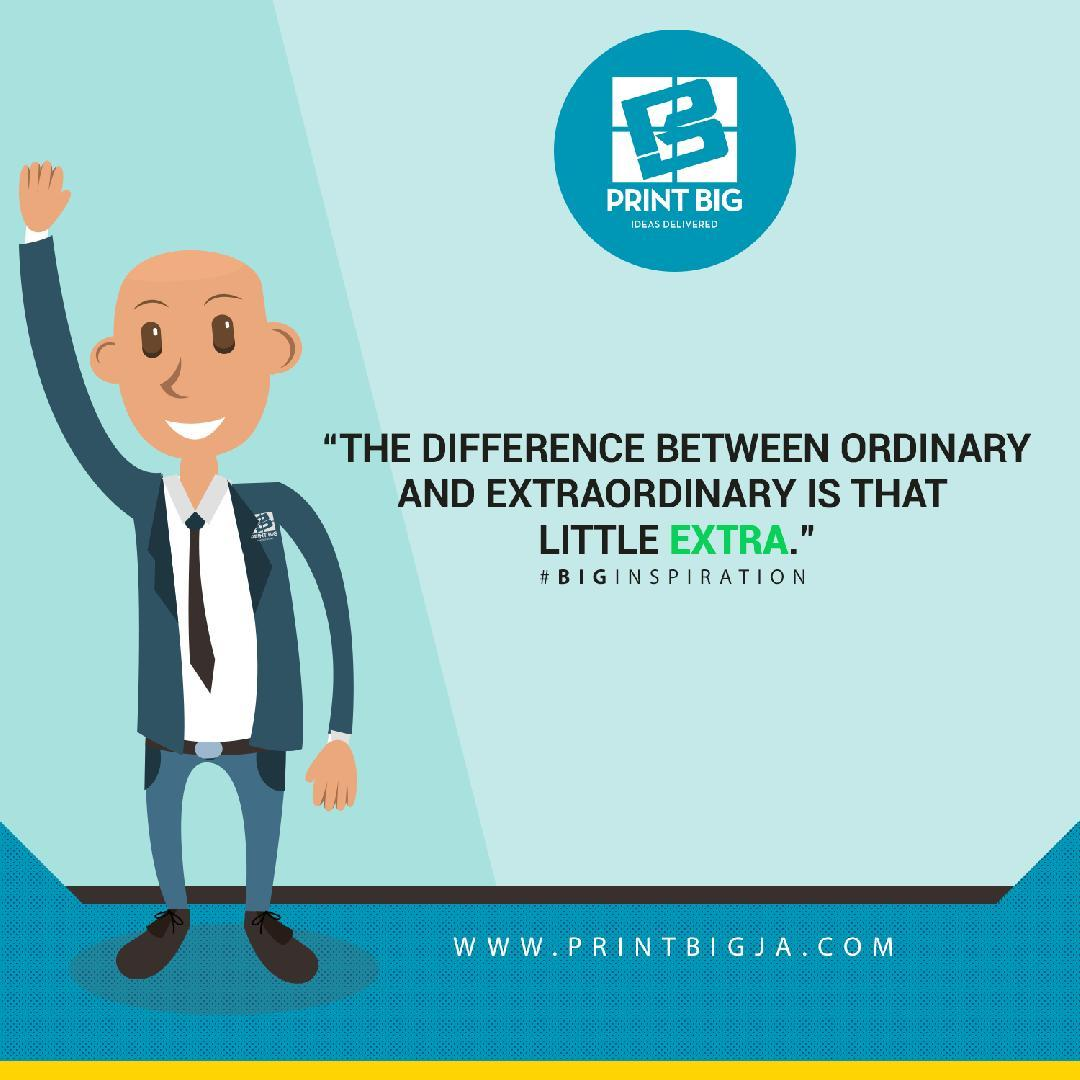 The difference between ordinary and extraordinary is that little