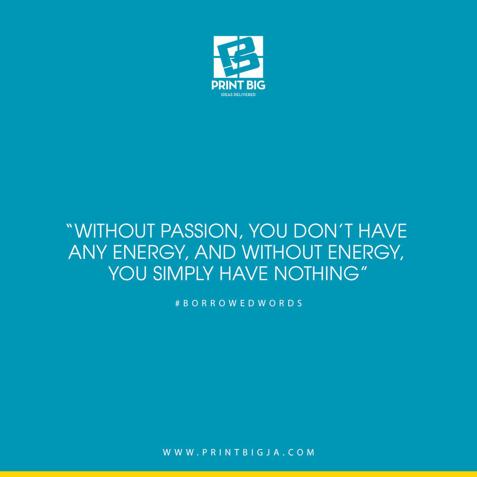 Without passion you don't have any energy and without energy.com& nc cat=101