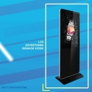 Freestanding digital sign kiosks enable rapid and easy installation of