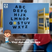 Decorate your childs room with vinyl Alphabet stickers are a 180x180 - Create custom signage to let your customers know your unique circumstances durin
