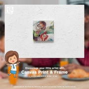 Encourage your little artist by printing their drawings on Canvas