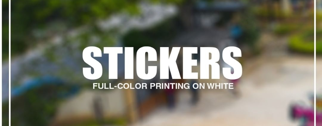 Brand anything Brand everything Print Big offers custom stickers for