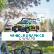 Drive readership using custom printed car decals to promote YOUR