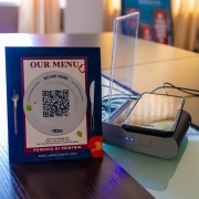 Contactless menus feature QR codes that customers point and scan